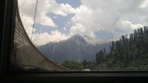Kheerganga- view from the cafe window
