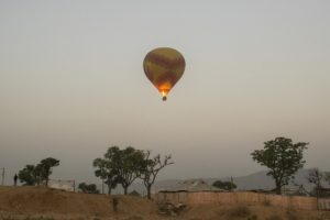 Hot Air Balloon- One of the attraction's at Pushkar mela!
