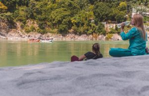 White sand beach - Rishikesh.