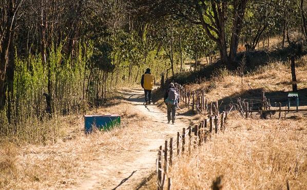 The picturesque trek to Gorkhey.